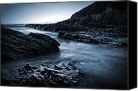 Long Canvas Prints - Smooth and Jagged Canvas Print by Matt  Trimble