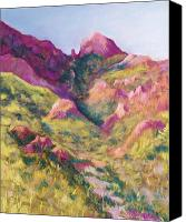 Mountains Pastels Canvas Prints - Smugglers Gap Canyon Canvas Print by Candy Mayer
