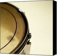 Drum Canvas Prints - Snare Drum, Close-up And Cropped Canvas Print by Stockbyte