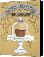 Plate Canvas Prints - Snickerdoodle Cupcake Canvas Print by Catherine Holman