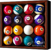 Gambling Canvas Prints - Snooker Balls Canvas Print by Carlos Caetano