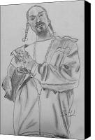 Music Jewelry Canvas Prints - Snoop Dogg Canvas Print by Estelle BRETON-MAYA