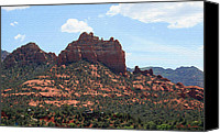 Red Rock Formations Canvas Prints - Snoopy Rock Canvas Print by Ellen Henneke