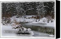 Shakespeare Quote Photo Canvas Prints - Snow by the riverside Shakespeare quote Canvas Print by Bianca Collins