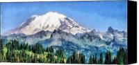 Scenic Pastels Canvas Prints - Snow Capped Mountain Canvas Print by Russ Harris