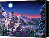 Most Sold Canvas Prints - Snow Castle Canvas Print by David Lloyd Glover
