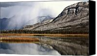 Alberta Landscape Canvas Prints - Snow Clouds in the Rocky Mountains of Alberta Canvas Print by Mark Duffy