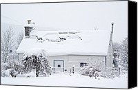 Snowed In Canvas Prints - Snow-covered Cottage, Braemar, Scotland Canvas Print by Duncan Shaw