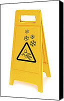 Sleet Canvas Prints - Snow Hazard Warning Sign Canvas Print by Lth Nhs Trust