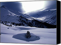 Colette Canvas Prints - Snow Mountain Austria  Canvas Print by Colette Hera  Guggenheim
