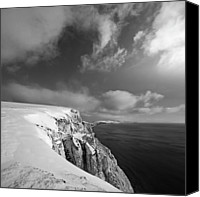 Freshwater Canvas Prints - Snow On Highdown, Freshwater, Isle Of Wight Canvas Print by s0ulsurfing - Jason Swain