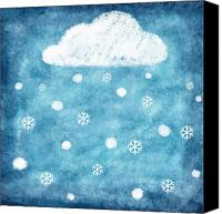 Art Education Canvas Prints - Snow Winter Canvas Print by Setsiri Silapasuwanchai