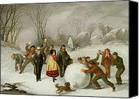 Christmas Cards Canvas Prints - Snowballing   Canvas Print by Cornelis Kimmel