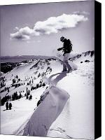 Snowboarder Canvas Prints - Snowboarder, Squaw Valley, Ca Canvas Print by Dawn Kish