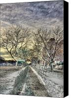 Storm Photo Canvas Prints - Snowbound Canvas Print by Evelina Kremsdorf