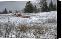 Tugboat Canvas Prints - Snowbound Canvas Print by Idaho Scenic Images Linda Lantzy