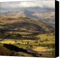 Sheep Photo Canvas Prints - Snowdonia Canvas Print by Angel  Tarantella