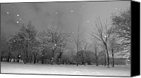 Bare Tree Canvas Prints - Snowfall At Night Canvas Print by Mark Watson (kalimistuk)