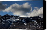 Peak One Canvas Prints - Snowy mountain summits above Capileira village in the Alpujarras mountains Canvas Print by Sami Sarkis