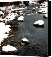 White River Scene Canvas Prints - Snowy River Canvas Print by The Forests Edge Photography - Diane Sandoval
