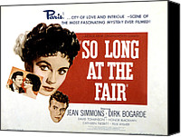 1950 Movies Canvas Prints - So Long At The Fair, Dirk Bogarde, Jean Canvas Print by Everett
