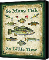 Fish Canvas Prints - So Many Fish Sign Canvas Print by JQ Licensing