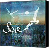 Summer Digital Art Canvas Prints - Soar Canvas Print by Evie Cook