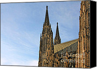 Christian Sacred Canvas Prints - Soaring spires Saint Vitus Cathedral Prague Canvas Print by Christine Till