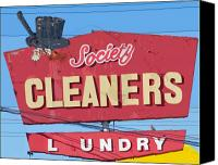 High Society Canvas Prints - Society Cleaners Canvas Print by Charlette Miller