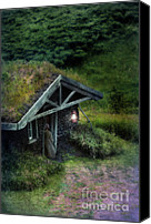 Cabin Canvas Prints - Sod House Canvas Print by Jill Battaglia