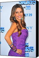 Dangly Earrings Canvas Prints - Sofia Vergara Wearing Lorraine Schwartz Canvas Print by Everett