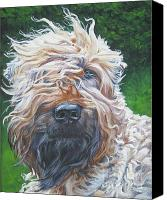 Original Canvas Prints - Soft Coated Wheaten Terrier Canvas Print by Lee Ann Shepard