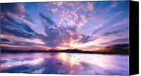 Sunset Canvas Prints - Soft Setting Canvas Print by Photodream Art