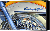 Cycle Canvas Prints - Softail Canvas Print by Scott Norris