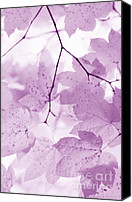 Blue Leaf Canvas Prints - Softness of Violet Leaves Canvas Print by Jennie Marie Schell