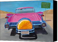 Classic Car Canvas Prints - SoHapy Canvas Print by Lucretia Torva