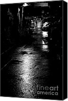 Raining Canvas Prints - Soho Noir Canvas Print by Dean Harte