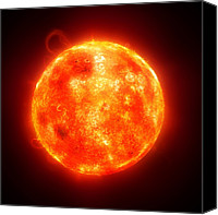 Chromosphere Canvas Prints - Solar Activity, Artwork Canvas Print by Sciepro