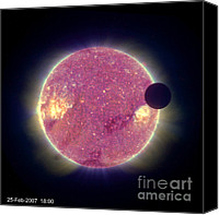 Solar Eclipse Canvas Prints - Solar Eclipse Canvas Print by Nasa
