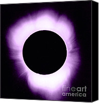 Solar Eclipse Canvas Prints - Solar Eclipse Canvas Print by Science Source