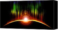 Black Hole Canvas Prints - Solar Eclipse Canvas Print by Svetlana Sewell