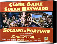 Gable Canvas Prints - Soldier Of Fortune, Clark Gable, Susan Canvas Print by Everett