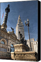 Public Square Canvas Prints - Soldiers and Sailors Monument Canvas Print by At Lands End Photography
