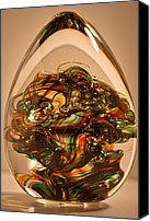 Art Sculpture Glass Art Canvas Prints - Solid Glass Sculpture E1P Canvas Print by David Patterson
