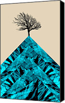 Triangles Digital Art Canvas Prints - Solitude Canvas Print by Ann Powell