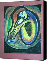Solitude Pastels Canvas Prints - Solitude Canvas Print by Hira Mannan