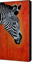 Drips Mixed Media Canvas Prints - Solitude in Stripes Canvas Print by Iosua Tai Taeoalii