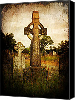 Cemetery Canvas Prints - Solitude Canvas Print by Leah Moore