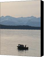 Lonesome Canvas Prints - Solo Fisherman Canvas Print by Bryan Tinsley