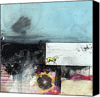 Raw Mixed Media Canvas Prints - Someday Canvas Print by Michel  Keck